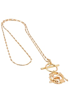 Gold Plated Mini Pendant Necklace by Outhouse