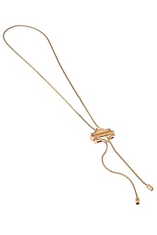 Gold Plated Long Pendant Necklace by Outhouse