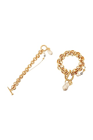Gold Plated Enamelled Bracelet by Outhouse