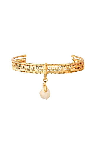 Gold Plated Pearl Choker Necklace by Outhouse