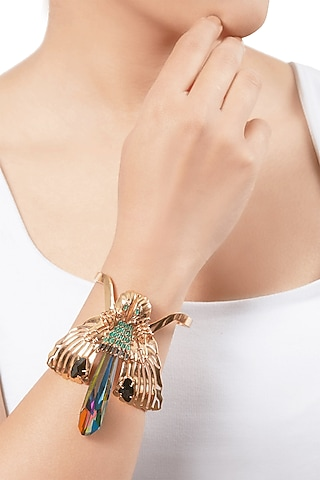 Gold Plated Handcrafted Handcuff by Outhouse