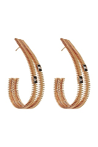 Gold Plated Handcrafted Hoop Earnings by Outhouse