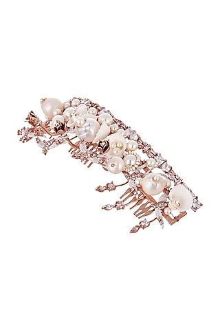 Rose Gold Plated Pearl & Sea Shell Crown by Outhouse