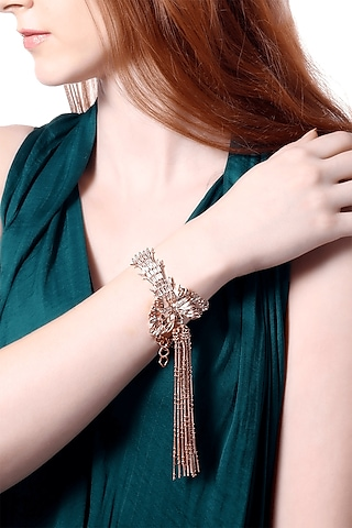 Rose Gold Plated Handcrafted Bracelet by Outhouse
