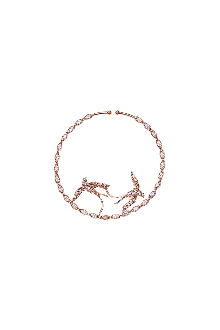 Rose Gold Plated Pearl & Swarovski Nose Ring by Outhouse