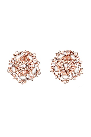 Rose Gold Plated Pearl Buttons by Outhouse