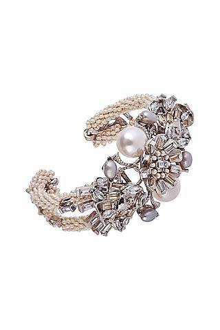 Gun Metal Finish Pearl Bracelet by Outhouse