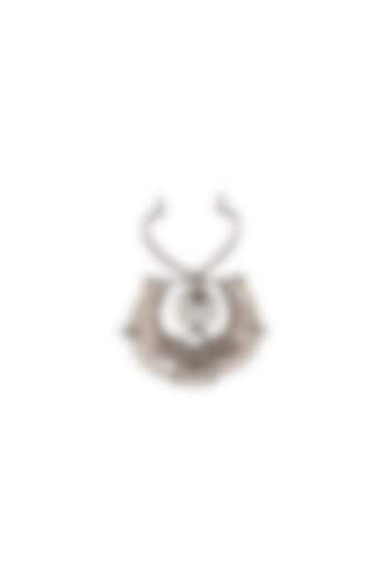 Silver Finish Swarovski Crystals Nose Ring by Outhouse
