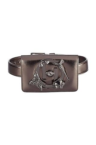 Gun Metal Finish Handcrafted Sling Bag by Outhouse