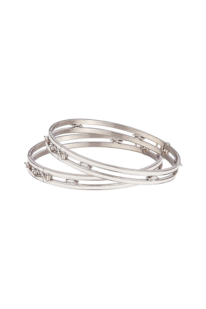 Silver Finish Handcrafted Bangles by Outhouse