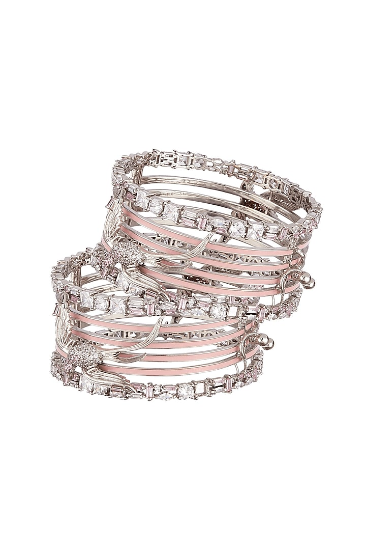 Silver Finish Bangles by Outhouse