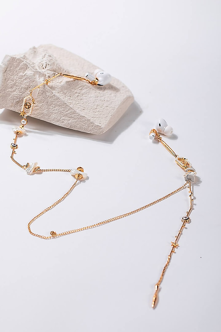Gold Plated Handcrafted Optical Chain by Outhouse