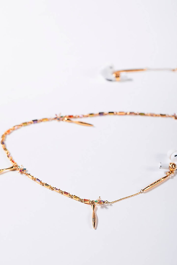 Gold Plated Motif Embellished Optical Chain by Outhouse