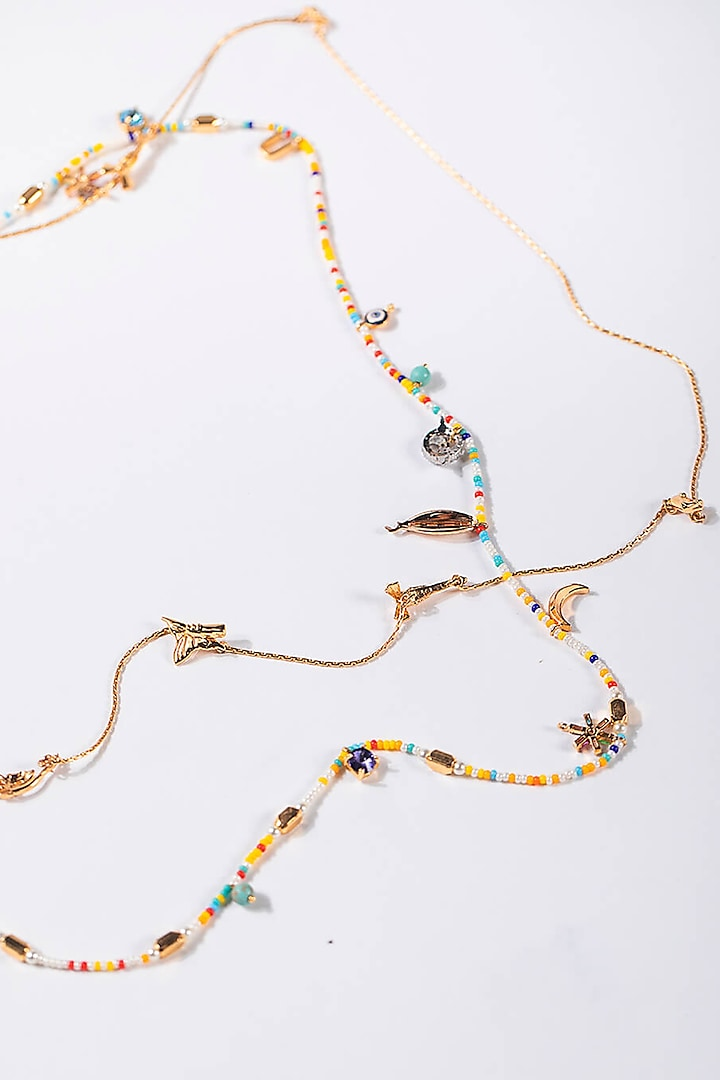Gold Plated Handcrafted Embellished Optical Chain by Outhouse