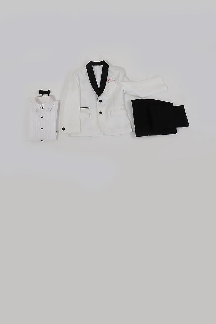 Off White Tuxedo Set by Partykles