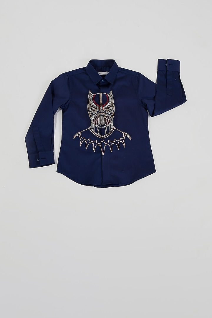 Navy Blue Black Panther Shirt by Partykles