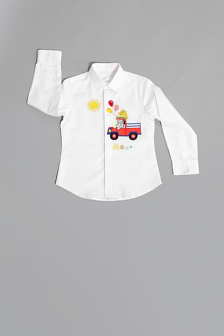 White Farm Motif White Shirt by Partykles
