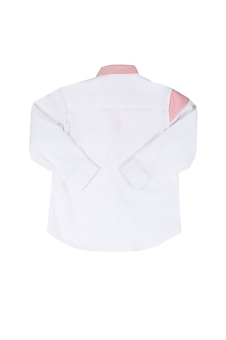 White Shirt With Patchwork by Partykles
