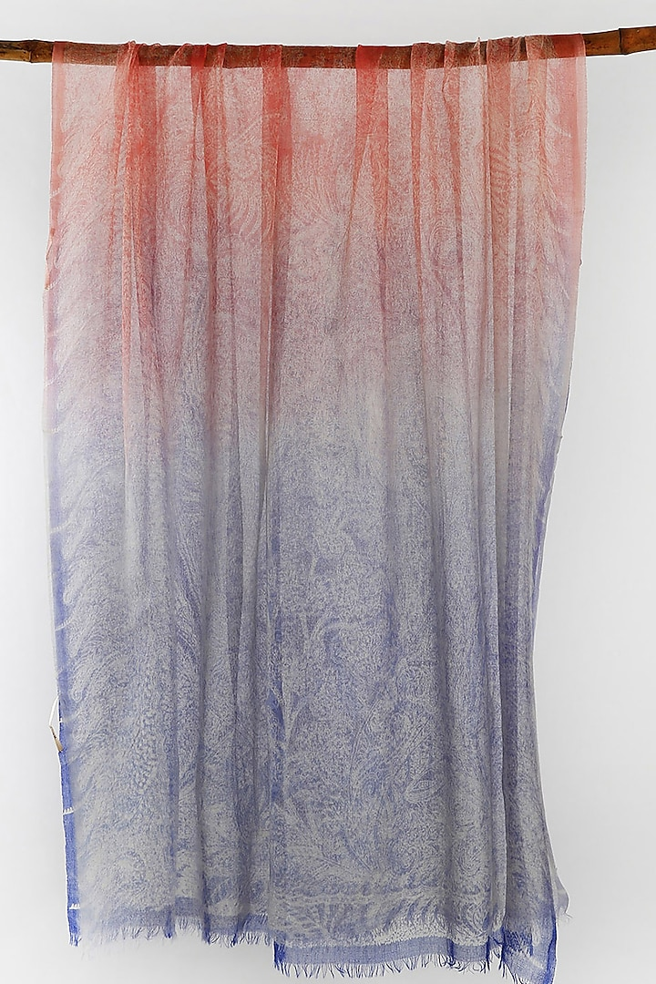 Multi Colored Paisley Printed Scarf by Pashma