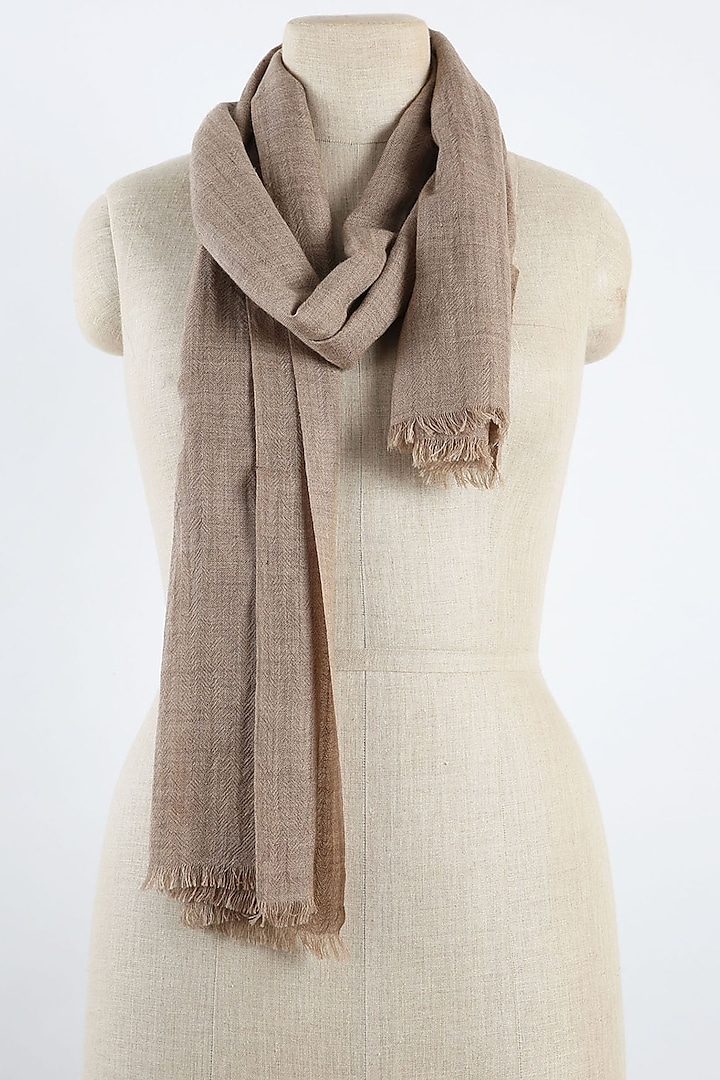 Beige Cashmere Scarf by Pashma