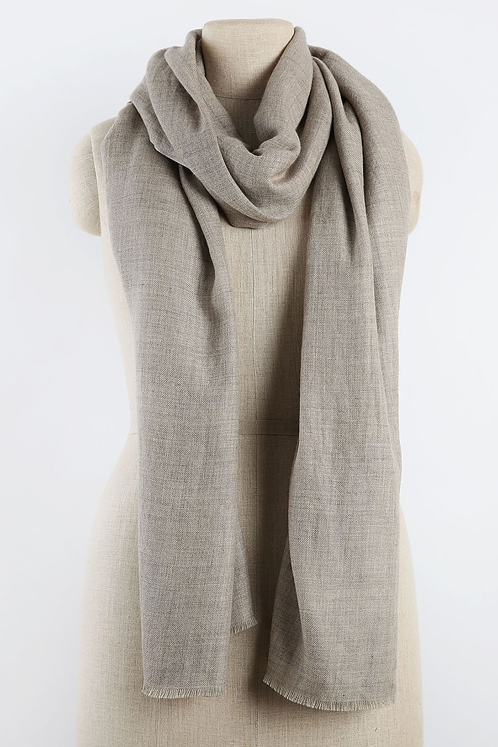 Beige Scarf In Pure Cashmere by Pashma