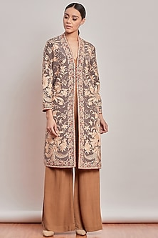 Grey Embroidered Roomi Jacket by Patine