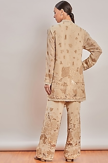 Nude Embroidered Tunic Set by Patine