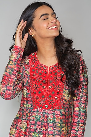 Multi Colored Printed Tunic by Payal Jain