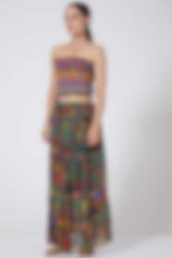 Multi Colored Corset Top by Payal Jain