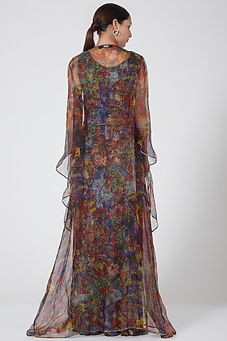 Multi Colored Printed Cape by Payal Jain