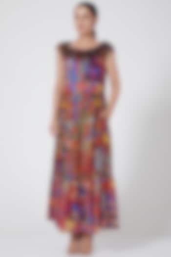 Multi Colored Ruffled Dress by Payal Jain
