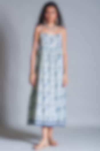 Off White Embroidered Dress by Payal Jain