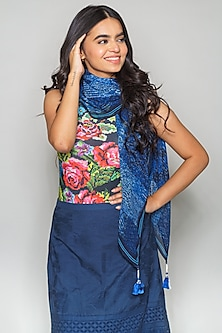 Blue A-Line Skirt by Payal Jain