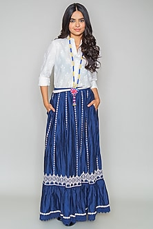 Blue Tiered Skirt by Payal Jain