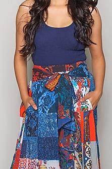 Multi Colored Culotte Pants by Payal Jain