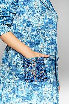 Multi Colored Linen Satin Slub Jacket by Payal Jain