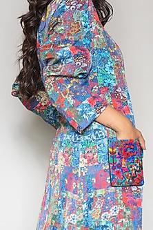 Multi Colored Linen Satin Jacket by Payal Jain