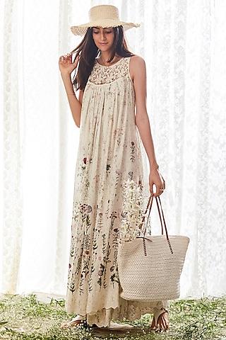 Off White Sleeveless Dress by Payal Jain
