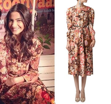 Vintage floral print midi dress by Shift by Nimish Shah