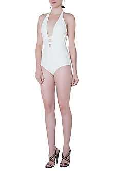 White halter one piece by PA.NI Swimwear