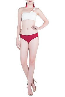 Red hipster bikini bottom by PA.NI Swimwear