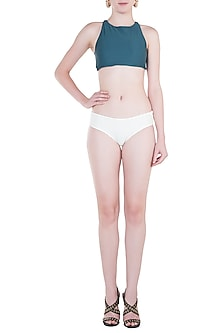 White hipster bikini bottom by PA.NI Swimwear