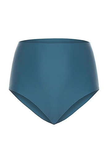 Green high-waisted bikini bottom by PA.NI Swimwear