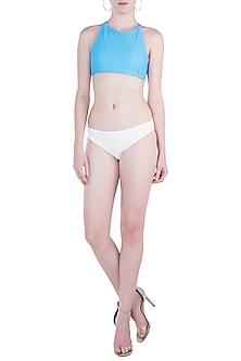 White regular bikini bottom by PA.NI Swimwear