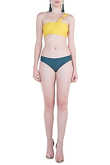 Green regular bikini bottom by PA.NI Swimwear