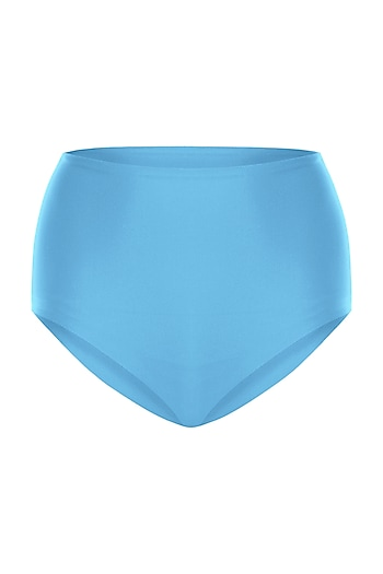 Sky blue high-waisted bikini bottom by PA.NI Swimwear