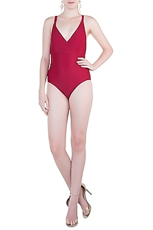 Red crossed back one piece by PA.NI Swimwear