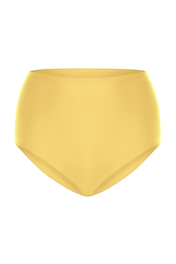 Yellow high-waisted bikini bottom by PA.NI Swimwear