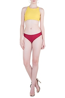 Red regular bikini bottom by PA.NI Swimwear