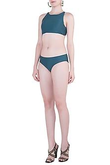Green Halter Bikini Top by Pa.Ni Swimwear